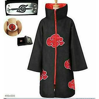 Akatsuki Uchiha Itachi Cloak Anime Cosplay Unisex Costume Ninja