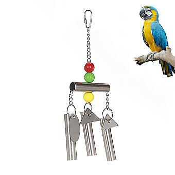 Parrot Stand Bells Squirrel Bellsparrot Toys Stainless Steel Bells Parrot Cage Toys