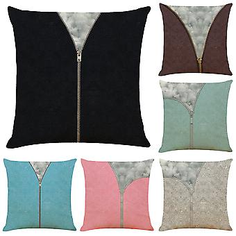 Mile Cushion Covers Set Of 6, Pillow Cover Cushion Case, Soft Throw Pillowcase Geometric, Sofa Home Decoration Pillow, 18 X 18 Inch