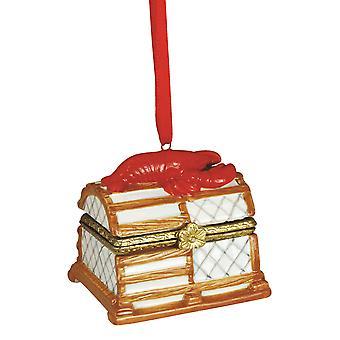 Rode kreeft vissen Trap scharnierende vak Christmas Ornament vakantie