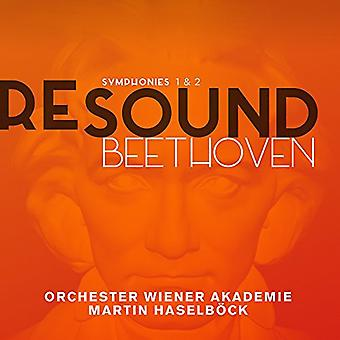 Beethoven / Orchester Wiener Akademie / Haselbock - sinfonias n º s 1 e 2 [CD] EUA importação