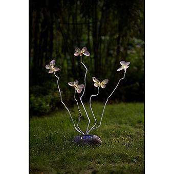 Konstsmide 5 Butterfly Garden ornamenter Solar Lights