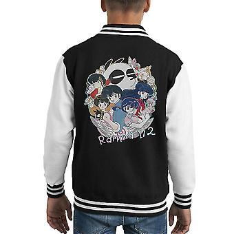 Ranma Characters Kid's Varsity Jacket
