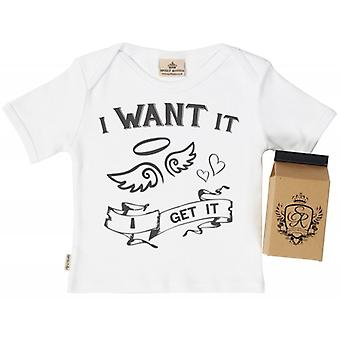 Spoilt Rotten I Get It Babys T-Shirt 100% Organic In Milk Carton