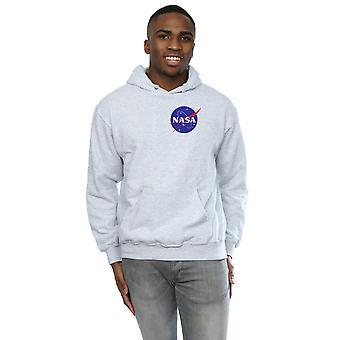 Classico Insignia petto Logo Hoodie NASA maschile