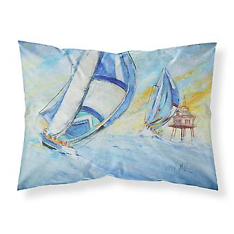 Sailboats and Middle Bay Lighthouse Fabric Standard Pillowcase
