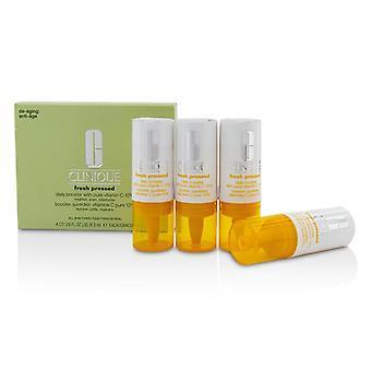 Clinique Fresh geperste dagelijkse booster met pure vitamine C 10%-alle huid types-4x 8,5 ml/0,29 Oz
