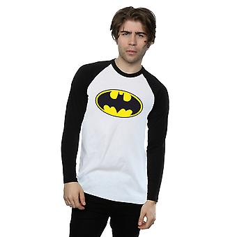 DC Comics Men's Batman Logo z długimi rękawami Baseball Shirt