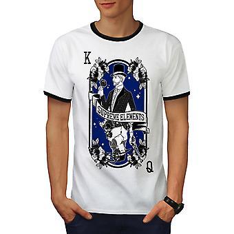 King And Queen Men White / BlackRinger T-shirt | Wellcoda