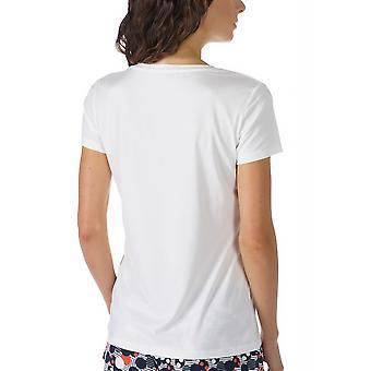 Mey 16824-405 Women's Night2Day Off-White Solid Colour Pajama Pyjama Top