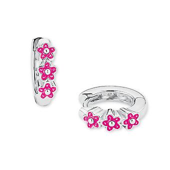 Principessa Lillifee bambini Orecchini cerchi argento fiori rosa 2021026