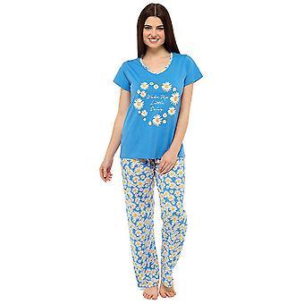 Tom Franks Womens 3 Piece Printed Shorts & Trouser Pyjamas