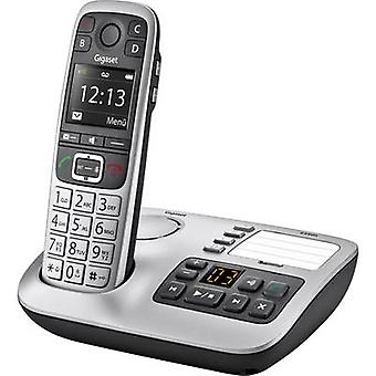 Gigaset E560 A Cordless analogue Answerphone, Hands-free, Visual call notification Platinum