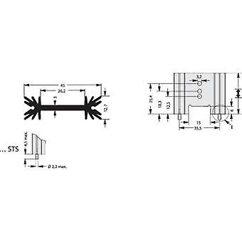 Fischer Elektronik SK 409 50,8 STS Disipador de calor de aleta 6,2 K/W (L x W x H) 50,8 x 45 x 12,7 mm a 220, A 218, A 3P