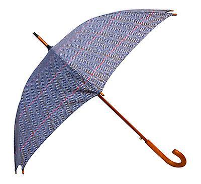 Tweed Herringbone Print  Straight Umbrella HT04