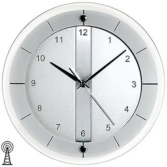 Radio controlled wall clock wall clock modern faceted mineral glass wall clock