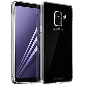 Silicone case, slim protective cover for Galaxy A8 by Muvit - Ultra Clear