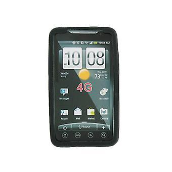 Sprint siliconen Gel beschermhoes voor HTC EVO 4G - zwart