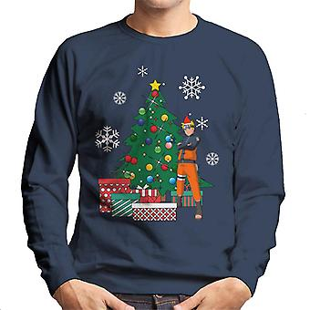 Naruto Around The Christmas Tree Men's Sweatshirt