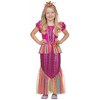 女の子のための小さな人魚ドレス コスチューム
