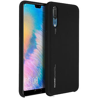 Officiële Huawei soft touch geval backcover voor Huawei P20 - zwart