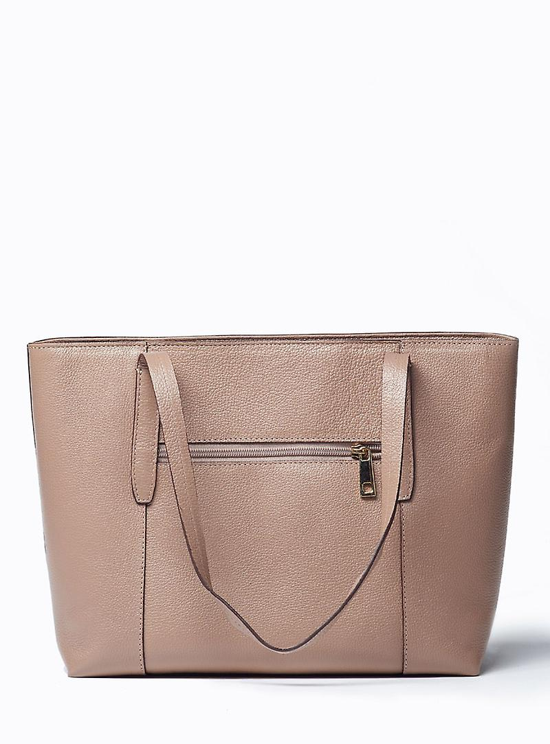 Viver Large Leather Tote Bag Tote-Oso Stone