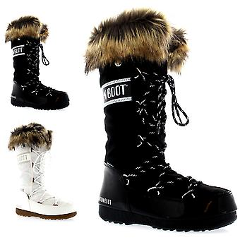 Womens Tecnica Original Moon Boot Monaco Waterproof Knee High Winter Snow Boots