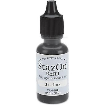 StazOn Solvent Ink Refill .5oz - Jet Black