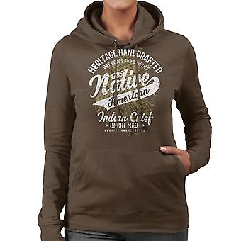 Vintage Native American Indian Chief  1735 Women's Hooded Sweatshirt
