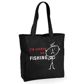 Mężczyźni, których wolę być ryby czarny Bawełniana torba na zakupy