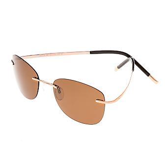 Simplificar Matthias polarizado gafas de sol - rosa oro/marrón