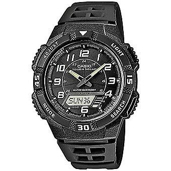 カシオ アナログ デジタル時計水晶男性ブラック樹脂ストラップ AQ S800W 1BVEF