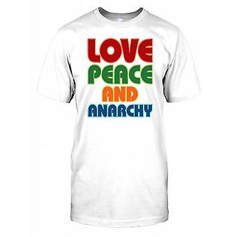 Paz amor e anarquia Mens T-Shirt