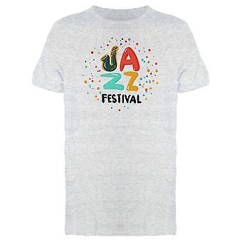 Jazz Festival Music Font Tee Men's -Image by Shutterstock