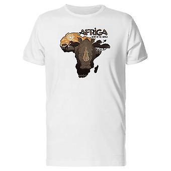 Karte von Afrika Nashorn T-Shirt Herren-Bild von Shutterstock