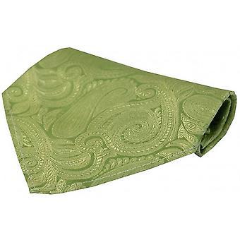 David Van Hagen luksusowych Paisley jedwabną chustką - zielony Pastel