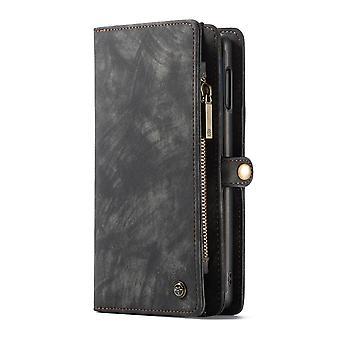 CASEME Samsung Galaxy S10e Retro carteira de couro Case-grey