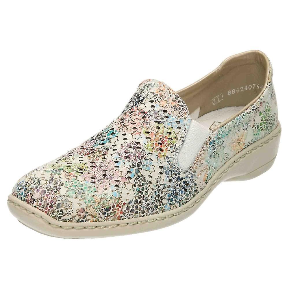 Rieker Slip On Low Heel Leather Shoes 413Q6-90 cQhfy