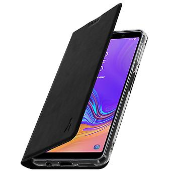 Akashi slim case, flip wallet cover for Samsung Galaxy A7 2018 – Black