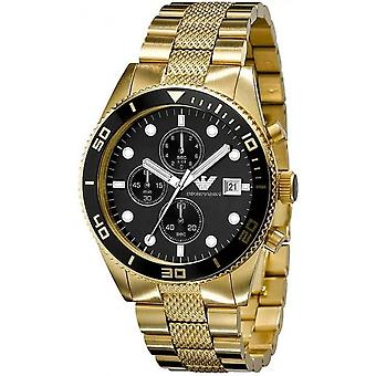 Armani Ar5857 Gents Gold Stainless Steel Chronograph Watch