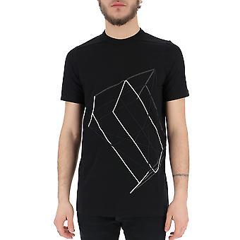 Rick Owens Ru19s2264jaem309117 Men's Black Cotton T-shirt