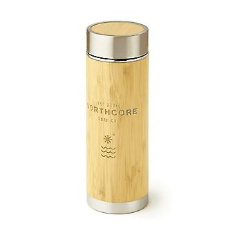 Northcore bamboe roestvrijstaal Thermos kolf 360ml