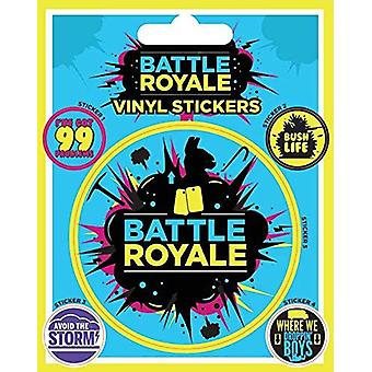 Battle Royale (infographic) vinyl klistermærke