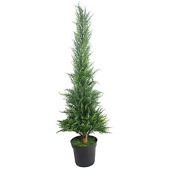 120cm (4ft) Artificial Bushy Cedar Cone Cypress Conifer Topiary Tree
