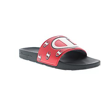 Champion Ipo Repeat C Mens Red Slip On Slide Sandes Chaussures