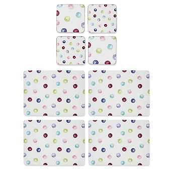 Gătit Smart spotty Dotty placemats și coasters