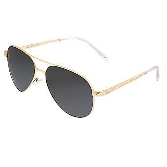 Breed Void Titanium Polarisierte Sonnenbrille - Gold/Schwarz