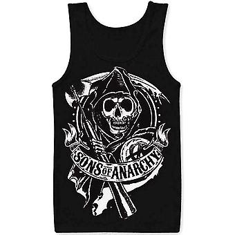 Sons of anarchy - scroll reaper - tank top
