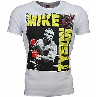 Camiseta-Mike Tyson Glossy Print-Blanco