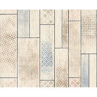 A.S. Creation AS Creazione Pannello di Legno Modello Wallpaper Cucina Angolo Tribal Motif 330893